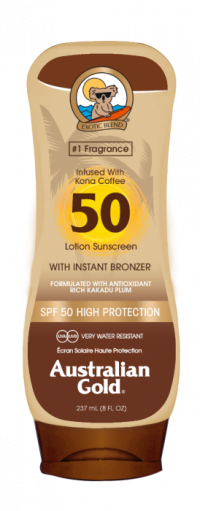 Australian Gold SPF 50 Lotion + bronzer 237 ml